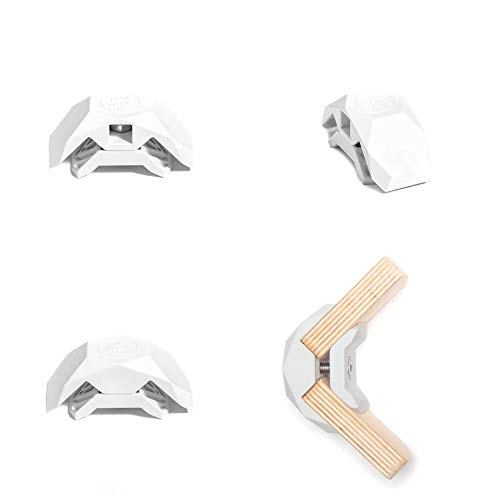 PlayWood Connector for Tool-Free Modular Pop-Up Furniture & Storage Assembly (White, 90 Degree, 1 Box)