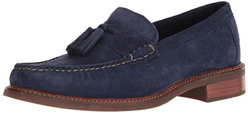 Cole Haan Mens Pinch Sanford Tassel Loafer Marine Blue Suede 10 D (M)