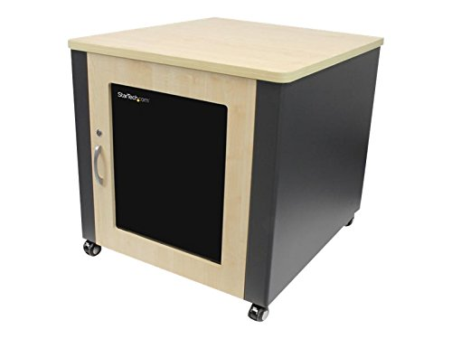 StarTech.com 12U Rack Enclosure Server Cabinet - 21.5 in. Deep - Soundproof - Wood Finish by StarTech