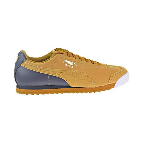 (PUMA Men's Roma Retro Sports Sneaker, Buckthorn Brown-Iron gate White, 13 M US)