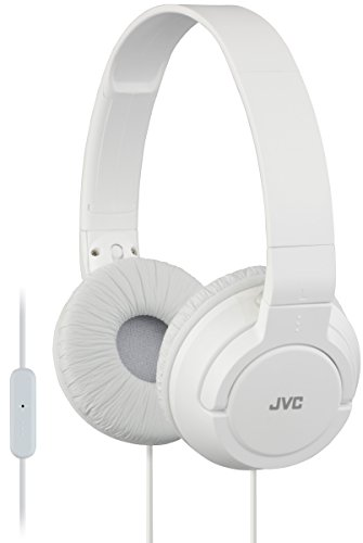 - JVC Lightweight Flat Foldable On Ear Colorful Lightweight Foldable Headband with Mic, White (HASR185W)