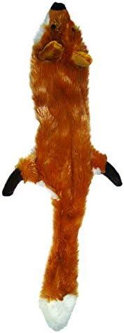 SPOT Ethical Pets Brinquedo de pelúcia Skinneeez Fox 35,5 cm sem enchimento para cães e gatos chiados, multico