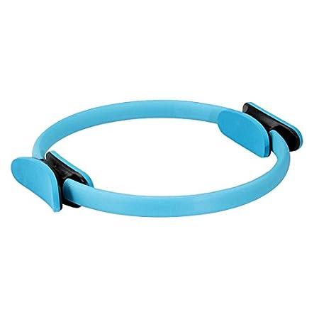 Anillo de resistencia para pilates Doolland 15 pulgadas, doble agarre, para tonificaci/ón y fitness verde verde