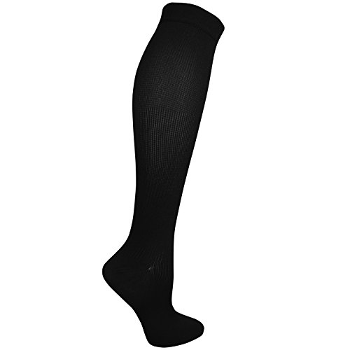 Dr. Scholl's Women's Travel Mild Compression 2 Pack Sock, Black Shoe Size: -