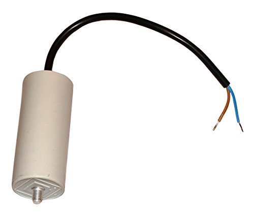 Aerzetix: Motor Running Capacitor 25µ F 425V with a Cable 25cm Long, C10511 SK2-C10511-K34