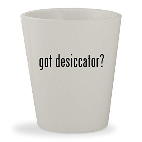 got desiccator? - White Ceramic 1.5oz Shot Glass Desiccator Glass