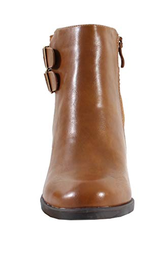By Style Shoes Bottine Femme Camel Cuir rS6nraPqw