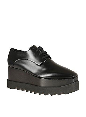 Stella Mccartney Femme 468297W0XH01000 Noir Cuir Chaussures À Lacets o6MT2b