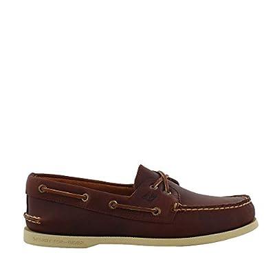 SPERRY Men's Topsider, Authentic Original Boat Shoe Created in 1935, The Authen Dark TAN 15 M