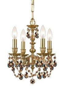 Crystorama Golden Teak Strass Crystal - Mirabella 4 Light Mini Chandelier Crystal: Golden Teak Swarovski Strass