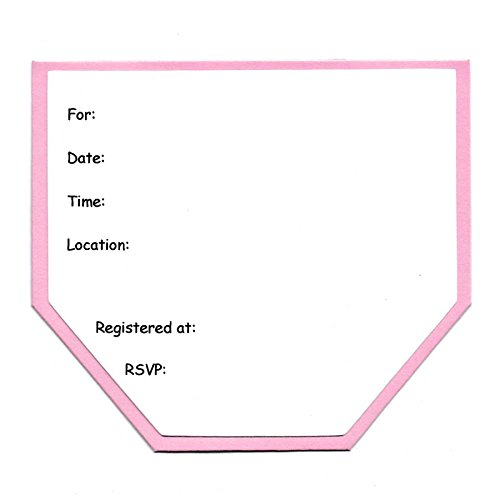 Baby Shower Invitations: Girl Pink Diaper Card Invites