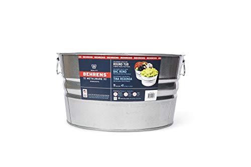 Behrens 1GS 11 Gallon Round Galvanized Steel Tub -