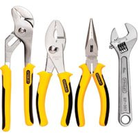 Stanley 4-Piece Plier and Adjustable Wrench Set, 84-558