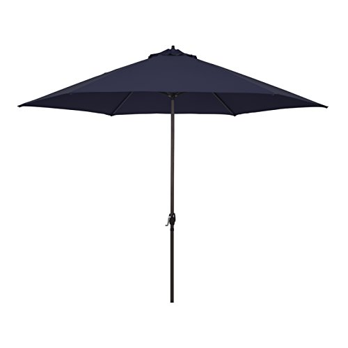 Astella 11' Rd Crank Open Aluminum Market Umbrella, Navy Blue