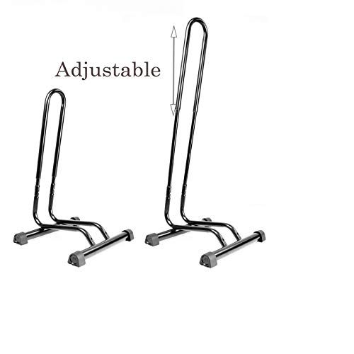 CyclingDeal Adjustable 1-6 Bike Floor Parking Rack Indoor Home Storage Garage Bicycle Rack Stands - Great for Mountain Road Kids Hybrid Bikes