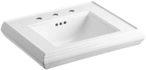 KOHLER K-2239-8-0 Memoirs Pedestal Bathroom Sink Basin with 8