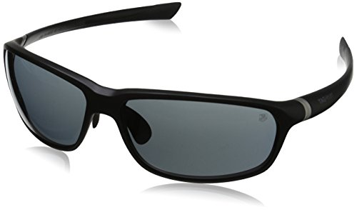 Tag Heuer 27 Degree 6022 101 6022101 Rectangular Sunglasses, Black Matte,Black & Grey Outdoor, 66 - Sunglasses With Degree