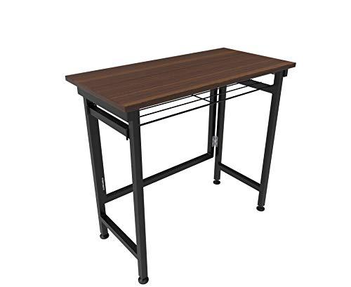 InnoFur Aplos Folding Desk, Study, Laptop,Sewing,Writing, Work from Home, Multi-Purpose Table with Metal Shelf Regular…