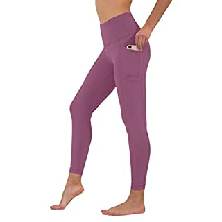 90 Degree By Reflex High Waist Tummy Control Interlink Squat Proof Ankle Length Leggings - Candy Blush - XS