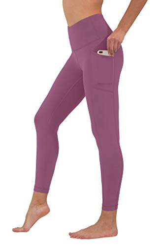 90 Degree By Reflex High Waist Tummy Control Interlink Squat Proof Ankle Length Leggings - Candy Blush - Small