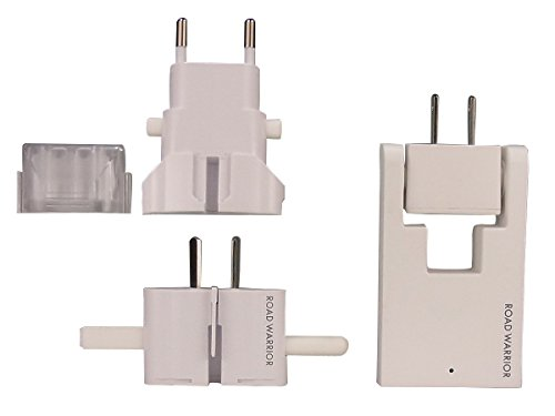 ROAD WARRIOR 2-Port USB AC Outlet + Universal Plug Adapter Travel Charger SET- RW101-98WH-US [White]