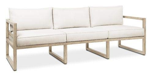 Genial Real Flame 1170 BAW Monaco Sofa, White