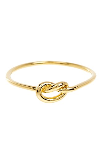 Sterling Forever - Love Knot Ring in Gold Vermeil, Knot Ring, Promise Ring Size : 6 ()