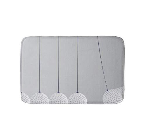 Yesstd Absorbent Super Cozy Bath Mat Doormat Welcome Mats Indoor/Outdoor Bath Floor Rug Decor Art Print with Non Slip Backing Kinetic Energy (30