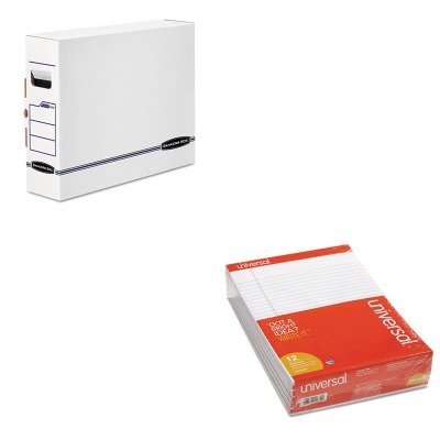Box Bankers X-ray (KITFEL00650UNV20630 - Value Kit - Bankers Box X-Ray Storage Box (FEL00650) and Universal Perforated Edge Writing Pad (UNV20630))