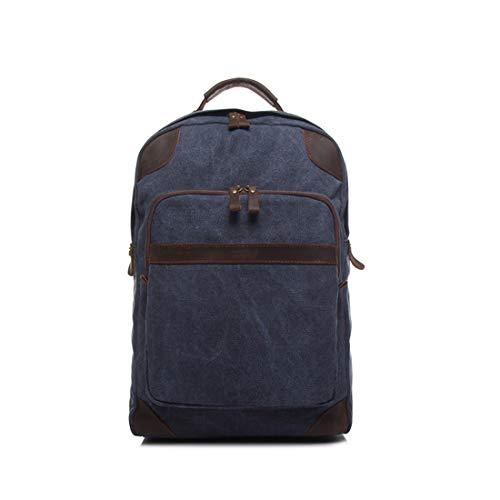 color Bag donna Per Navy Impermeabile Yy4 Studente All'aperto Uomo Armygreen Kervinfendriyun Laptop Zipper Vintage Canvas Shopping Zaino Blue Daypack RqZ1WgT
