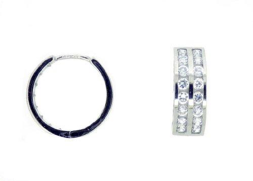 Boucles d'oreille Femme - E-11612 - Or blanc (9 cts) 2 Gr