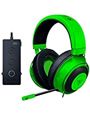 Razer Kraken Tournament Edition Gaming Headset - [Green]: Aluminum Frame - Retractable Noise Cancelling Mic - THX 7.1 Surround Sound USB DAC - For PC, Xbox, PS4, Nintendo Switch