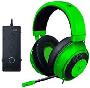 Razer Kraken Tournament Edition Gaming Headset: Aluminum Frame - Retractable Noise Cancelling Mic - THX 7.1 Surround Sound USB DAC - for PC, Xbox, PS4, Nintendo Switch - Green