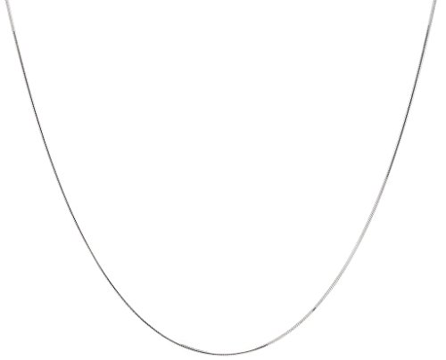 0.8mm Sterling Silver Italian Crafted 8 Sided Snake Chain w/Ring Clasp, 24 inch