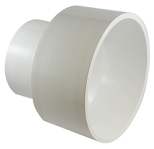 Pvc dwv reducer coupling inch white