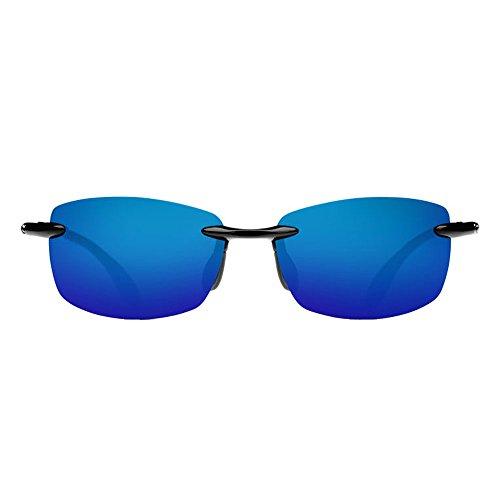 Costa del Mar BA 11 OBMP 59.6 mm Unisex-Adult Ballast Polarized Iridium Rimless Sunglasses, Black/Blue Mirror 580 Plastic Lens by Costa Del Mar (Image #4)