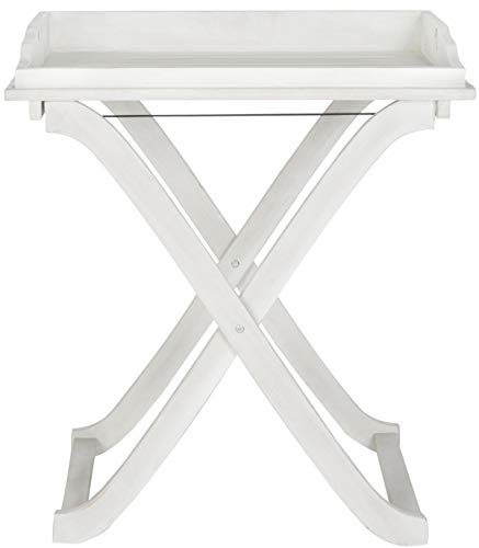 Safavieh Outdoor Living Collection Covina Tray Table, Antique White