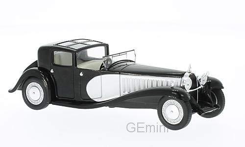 Bugatti Type 41 Royale, black/silver, 1928, Model Car, Ready-made, WhiteBox 1:43