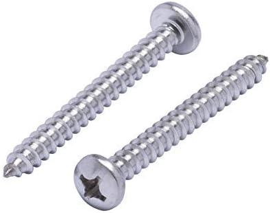 # 6 X 2 Stainless Steel Pan Head Phillips Sheet Metal Screws Pack of 12
