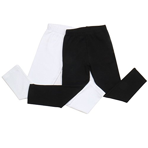 2 Pack: Unisex Baby Toddler Kids Summer Leggings or Spring Fall Base Layer