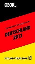 OECKL. Taschenbuch des Öffentlichen Lebens Deutschland 2013 - Buchausgabe: Buchausgabe 62 Jahrgang