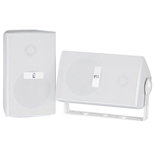 White Poly-Planar Marine Dual 120W Component Box Speakers W/Mount Consumer Electronics