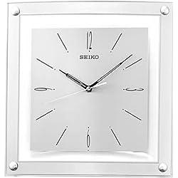 Seiko Wall Clock Quiet Sweep Second Hand Clock Silver-Tone Metallic Case