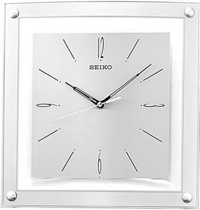 Seiko Wall Clock Quiet Sweep Second Hand Clock Silver-Tone Metallic Case - Silver Wall Clock