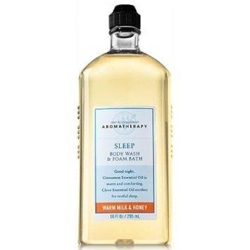 Aroma Bath Milk - Bath & Body Works Aromatherapy Sleep Warm Milk & Honey Body Wash and Foam Bath 10 fl oz (295 ml)