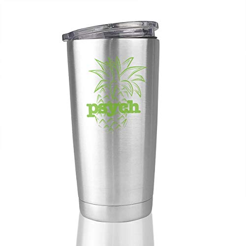 Psych Pineapple 20 Oz Stainless Steel Vacuum Insulated Tumbler Travel Mugs Novelty Gifts ()