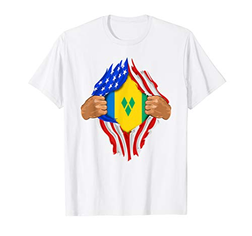 Saint Vincent and the Grenadines Blood Inside Me | Flag Gift