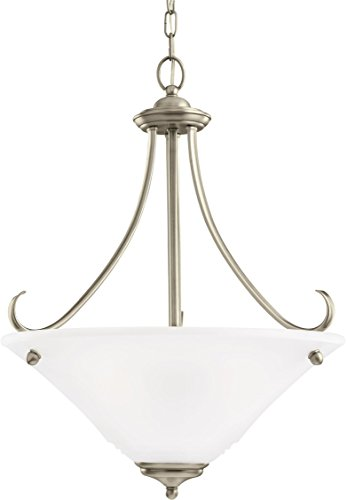 Sea Gull Lighting 65381EN3-965 Parkview Pendant, 3-Light LED 28.5 Total Watts, Antique Brushed Nickel (Parkview 965 Light 3)