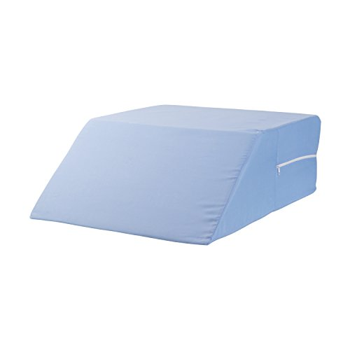 Wedge Bed Replacement Cover (DMI Ortho Bed Wedge Elevated Leg Pillow, Supportive Foam Wedge Pillow For Elevating Legs, Improved Circulation, Reducing Back Pain and More, Blue)