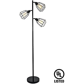 Brightech Liam LED Floor Lamp - Classy and Stylish 3 Light LED ...
